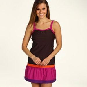 Prana Synergy Swim Dress Cover Up Color Block